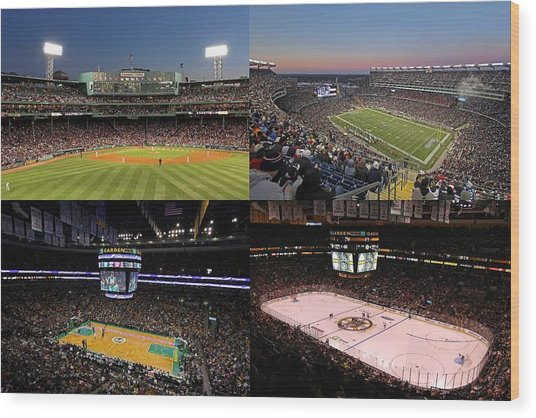 Boston Sport Teams And Fans Wood Print