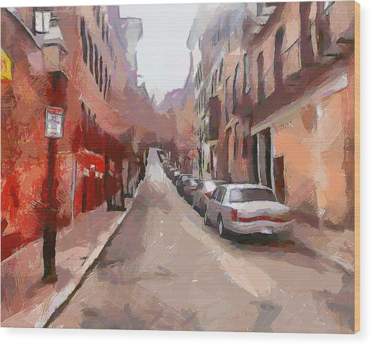 Boston Streets 1 Wood Print by Yury Malkov