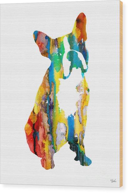 Boston Terrier 3 Wood Print