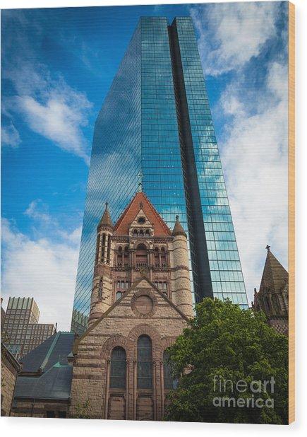 Boston Trinity Church Wood Print