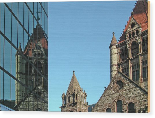 Boston Unity Reflected 2853 Wood Print