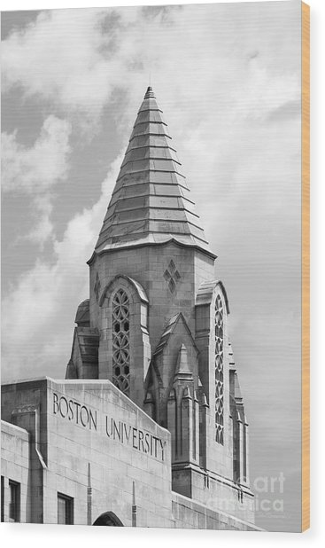 Boston University Tower Wood Print