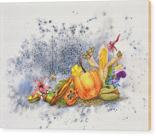 Botanical 1 Wood Print