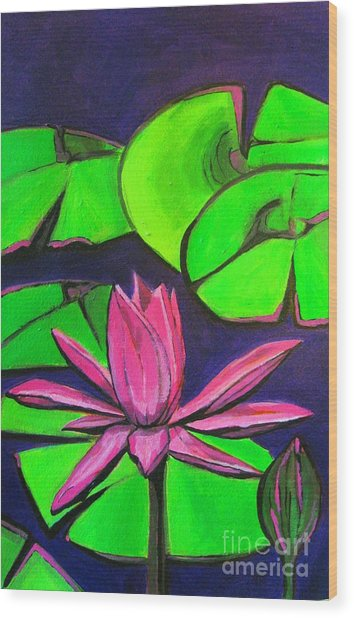 Botanical Lotus 1 Wood Print