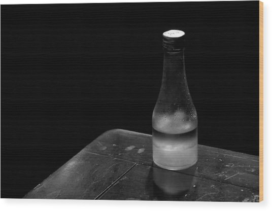 Bottle And Corner Wood Print by Guillermo Hakim
