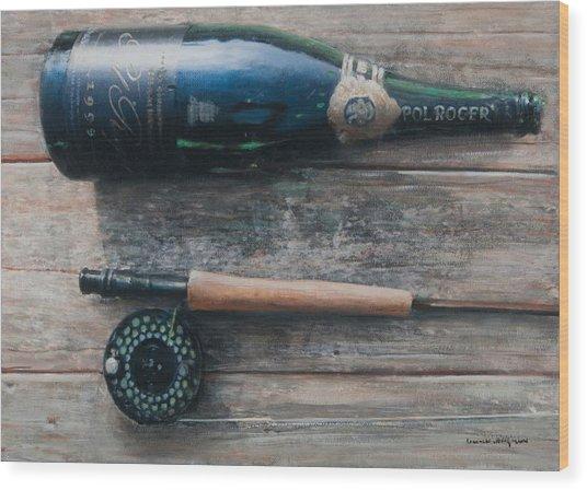 Bottle And Rod I Wood Print