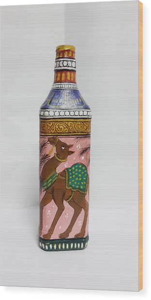 Bottle Painting  Wood Print