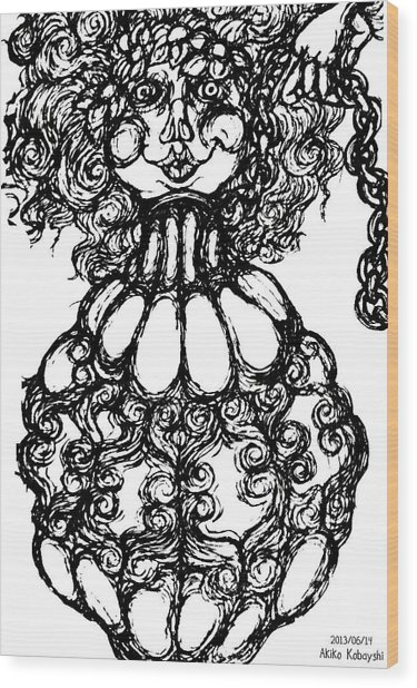 Bottled Lady Wood Print