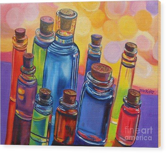 Bottled Rainbow Wood Print