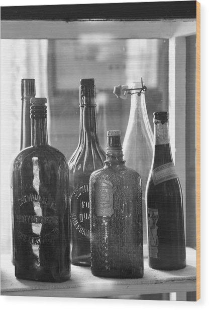 Bottles Of Bodie Wood Print