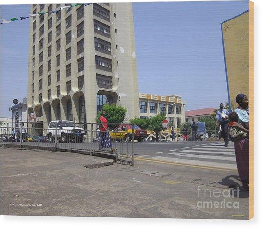Bottom Up Sierra Leone Commercial Bank Wood Print