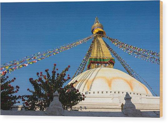 Boudhanath Stupa Wood Print