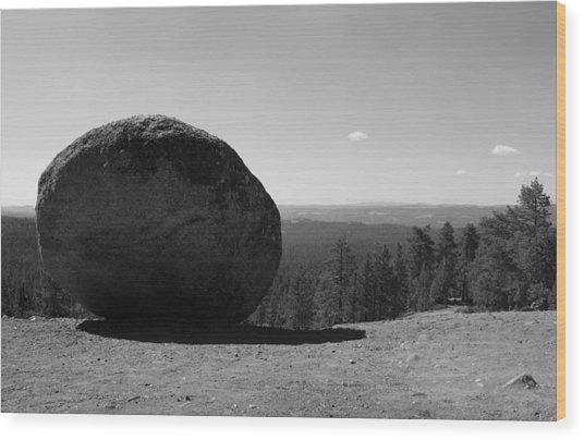Boulder View Wood Print