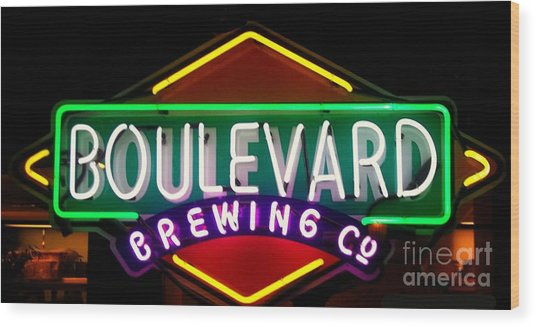 Boulevard Brewing Wood Print