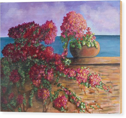 Bountiful Bougainvillea Wood Print