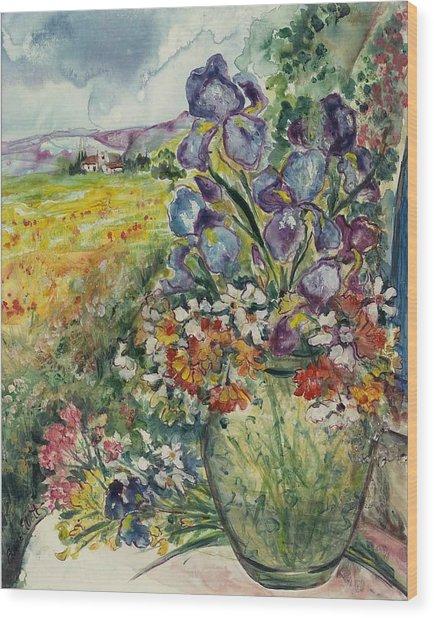 Bouquet De Provence Wood Print