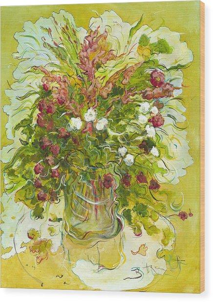 Bouquet Jaune - Original For Sale Wood Print by Bernard RENOT