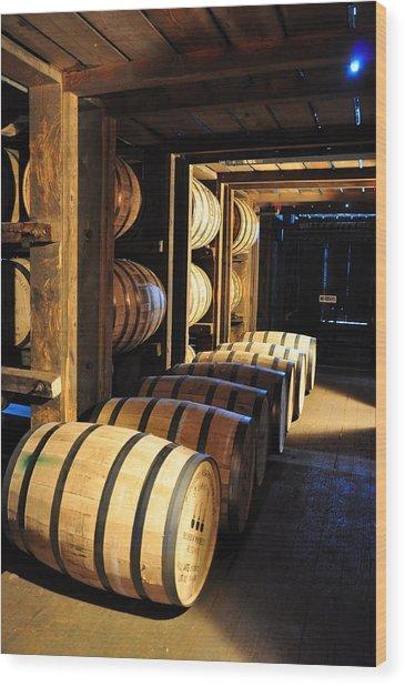 Bourbon Barrels Wood Print
