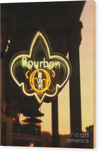 Bourbon Street Bar New Orleans Wood Print