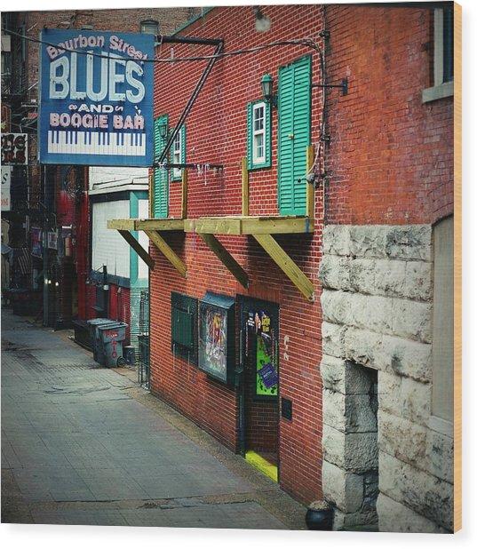 Bourbon Street Blues Wood Print