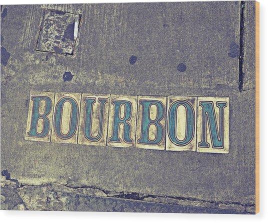 Bourbon Street Tiles Wood Print
