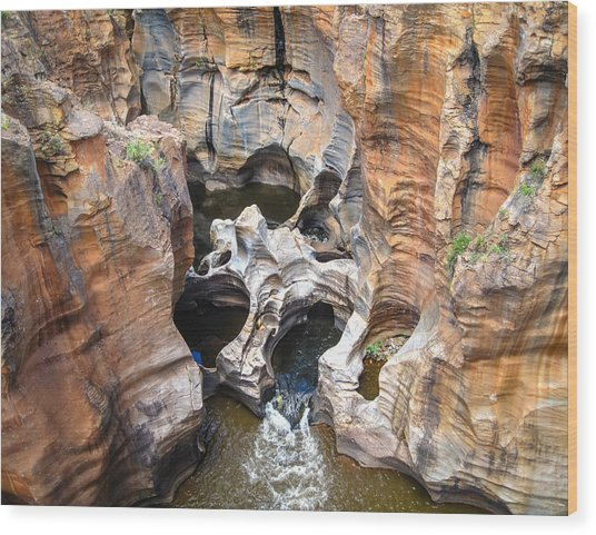 Bourke's Luck Potholes Wood Print