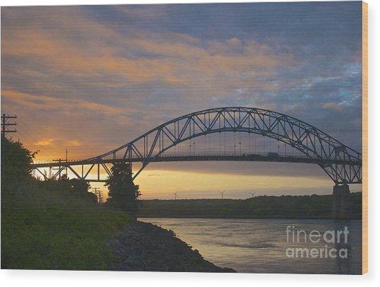 Bourne Bridge Sunrise Wood Print