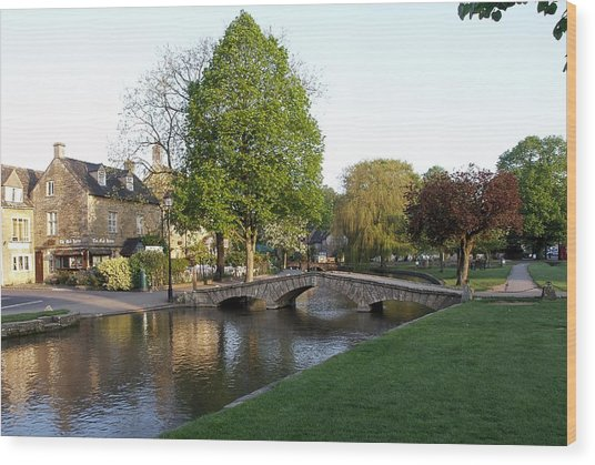 Bourton On The Water 2 Wood Print