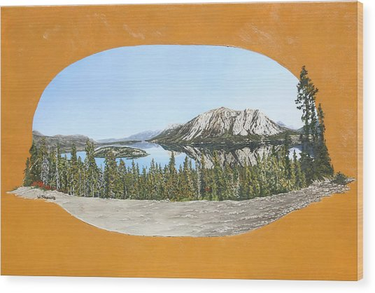 Bove Island Alaska Wood Print