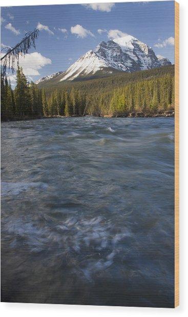 Bow River At Lake Louise Wood Print
