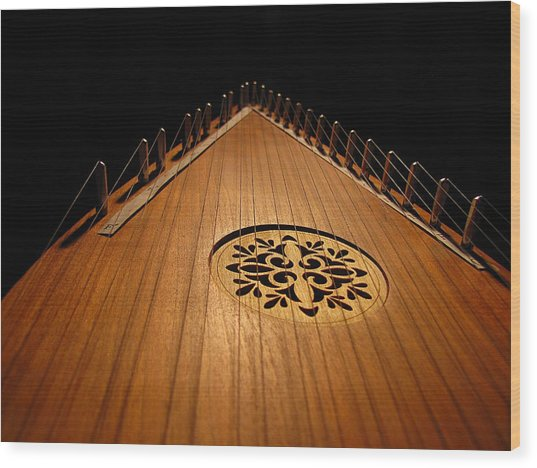 Bowed Psaltery Wood Print