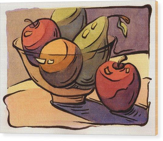 Bowl Of Fruit 8 Wood Print