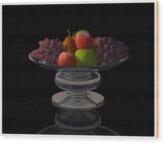 Bowl Of Fruit... Wood Print