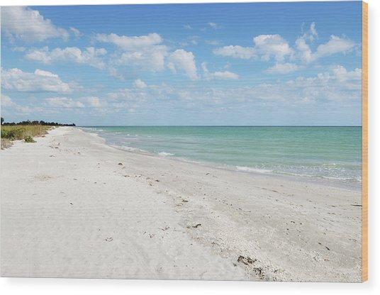 Bowman Beach On Sanibel Island Florida Wood Print