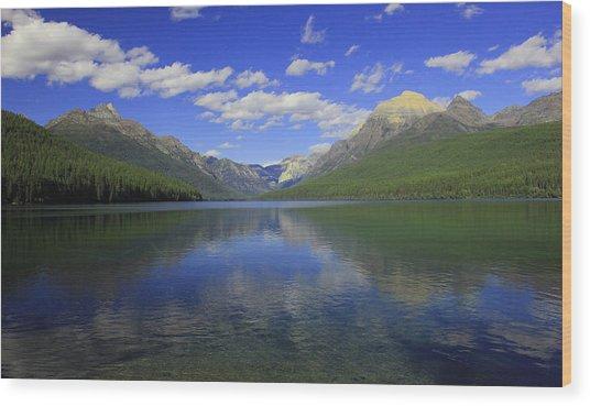 Bowman Lake Montana Wood Print