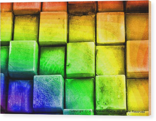 Boxes Wood Print