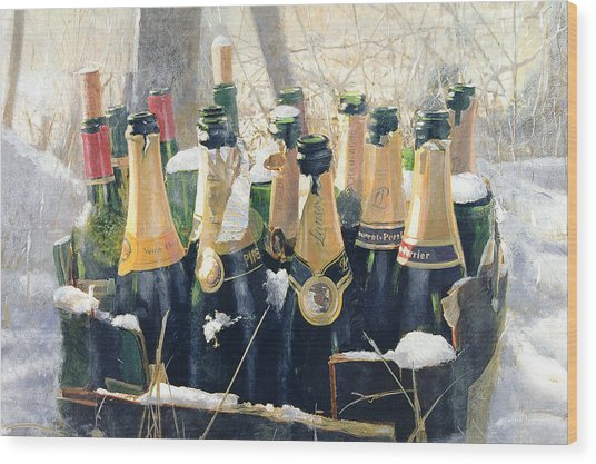 Boxing Day Empties Wood Print