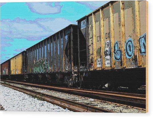 Boxxcars Wood Print
