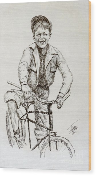 Boy Of The 1930s Wood Print