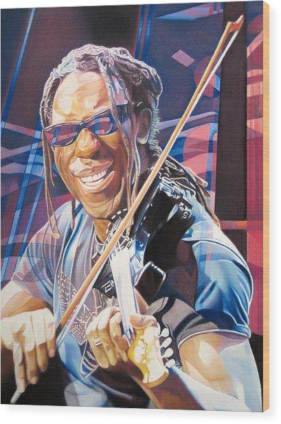 Boyd Tinsley And 2007 Lights Wood Print