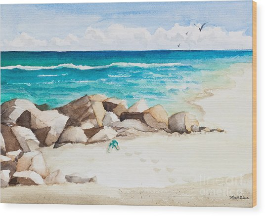 Boynton Beach Inlet Watercolor Wood Print