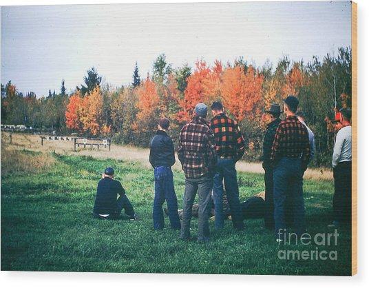 Boys Afternoon. Wood Print