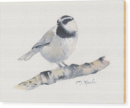 Bozeman Native - Mountain Chickadee Wood Print