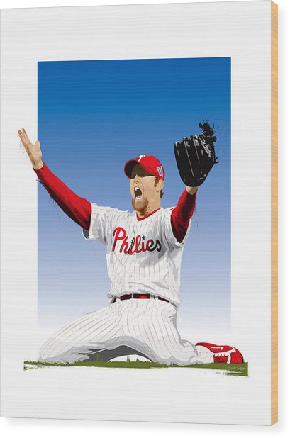 Brad Lidge Champion Wood Print