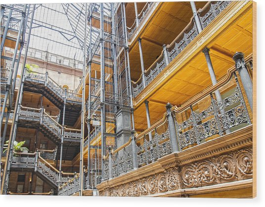 Bradbury Building Interior Wood Print