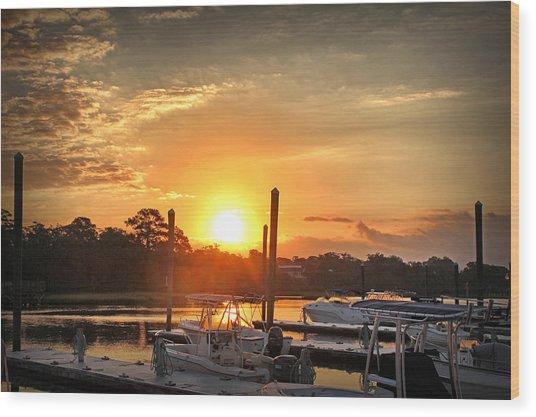 Bradley Creek Sunday Sunrise #3 Wood Print