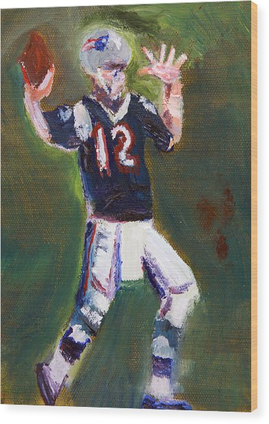 Superbowl Champ Wood Print