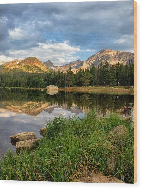 Brainard Lake Reflections Wood Print