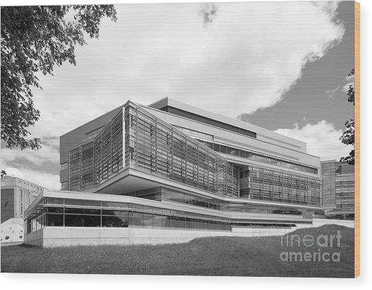 Brandeis University Carl J. Shapiro Science Center Wood Print by University Icons
