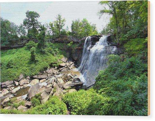 Brandywine Falls Gorge Wood Print